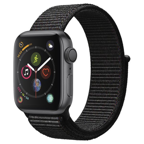 Смарт-часы Apple Watch S4 Sport 44mm SpaceGrey Al/Black Sport Loop